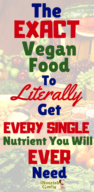The exact vegan food to get every single nutrient your body needs.