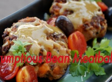Scrumptious Vegan Bean 'Meatballs' With A Very Special Sauce
