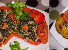 Spinach Quiona Stuffed Peppers You'll Want To Stuff Your Mouth With!