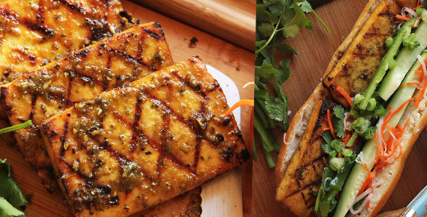Magically Delicious Marinated Grilled Tofu Sandwiches