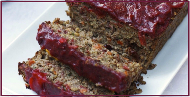 Truly Succulent Veggie Loaf With Cranberry Glaze
