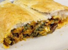 Divinely Succulent Smoked Tofu and Mushroom Strudel