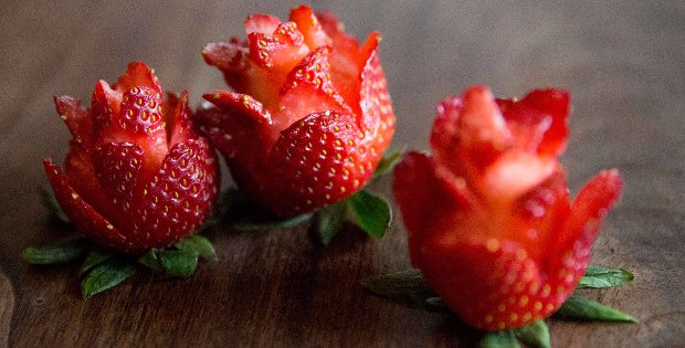 Learn How To Make These Adorable Strawberry Roses To Entice Everyone Into Tasting Your Vegan Food Creations