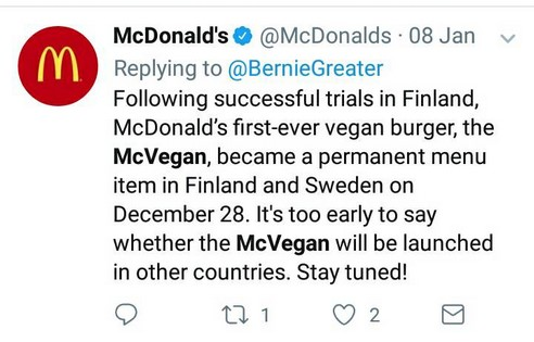 The McVegan Is Here And These People's Reactions Are Priceless