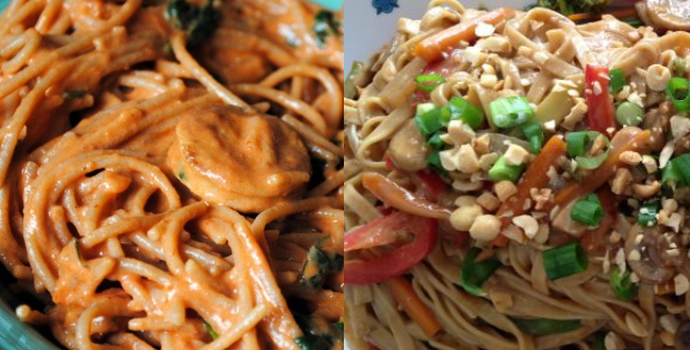Extra Creamy&Nutty Vegan Noodles To Drool Over!