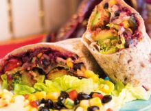 black bean vegan wrap