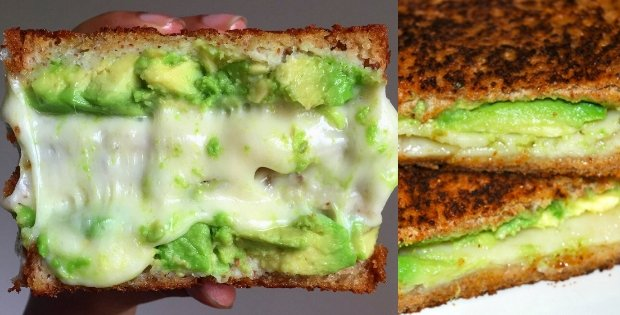 vegan grilled cheese avocado sandwich