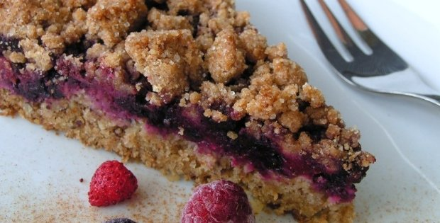 vegan berry cake