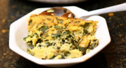 corn pudding with spinach