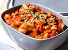 baked beans and ball pepper