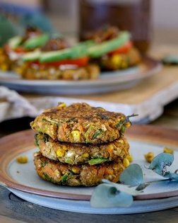 Carrot, Corn and Cauliflower Fritters