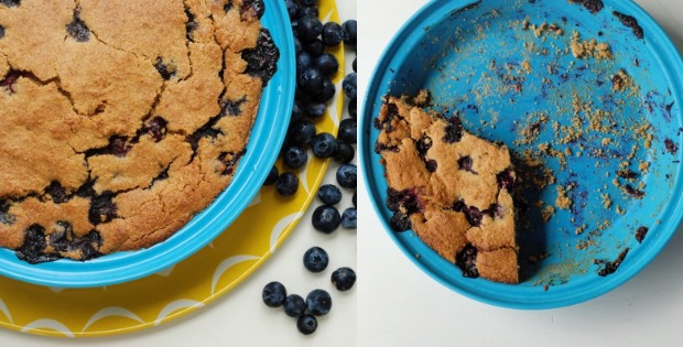 Crumbly Blueberry Cornmeal Cake